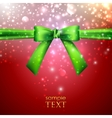 holiday background with green bow vector image vector image