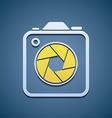 Icon aperture camera vector image vector image