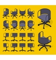 Isometric office spinning chairs vector image