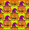 jack-o-lantern pumpkin background vector image vector image