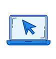 laptop cursor line icon vector image vector image