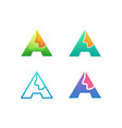 letter a template vector image vector image
