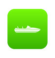 little powerboat icon digital green vector image vector image