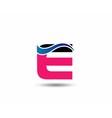 Logo E Letter company design template vector image