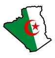 Map in colors of Algeria vector image vector image