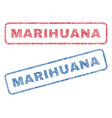 marihuana textile stamps vector image