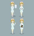 medical doctor nurse set vector image vector image