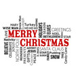 merry christmas word cloud concept vector image vector image
