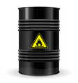 metal barrel sign flammable vector image