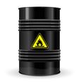 metal barrel sign flammable vector image