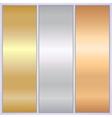 metallic texture banner templates vector image vector image