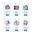 mobile payments onboarding pages web user vector image