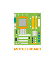 motherboard vector image vector image