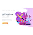 motivation and inspiration landing page vector image vector image