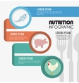 nutritions infographic presentation icons vector image