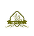 olive oil sign vector image vector image