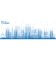 outline patna india city skyline with blue vector image vector image