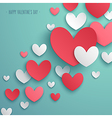paper hearts 01 vector image