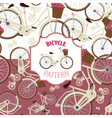 Pattern bicycle set number 2 vector image vector image