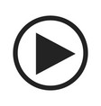 play button glyph icon vector image