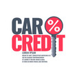 poster an car loan vector image vector image
