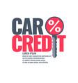 poster an car loan vector image