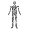 privacy mask man figure vector image