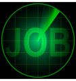 Radar screen with the word Job vector image