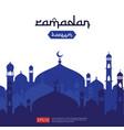 ramadan kareem islamic greeting design with dome vector image