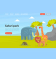 safari park landing page template african wild vector image vector image