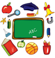 school elements vector image vector image