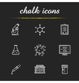 Science laboratory tools chalk icons set vector image vector image