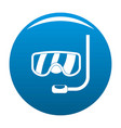 scuba mask icon blue vector image
