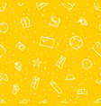 seamless pattern beach elements yellow vector image vector image