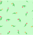 seamless pattern with cute small cartoon colored vector image vector image