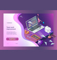 sending messages isometric vector image vector image