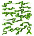 set green ribbons vector image