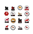 Set of labels with dogs for your design vector image
