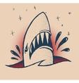 shark traditional tattoo vector image