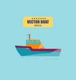 ship at sea transport shipping boats in vector image vector image