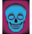 Sliced gradient skull vector image