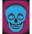 Sliced gradient skull vector image vector image