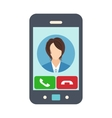 Smartphone with receiving phone call vector image