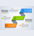 step chart business infographics template vector image vector image