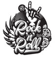 stylish print template on theme rock vector image vector image