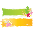 summer grunge two banners vector image vector image