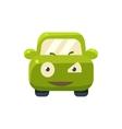Suspicious Green Car Emoji vector image vector image