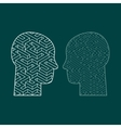 Symbol of the brain thinking vector image vector image