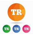 Turkish language sign icon TR translation
