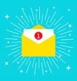 unread mail notification with number marker email vector image vector image